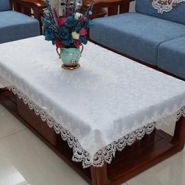 欧式茶几桌布蕾丝客厅茶几布布艺现代简约长方形镂空餐桌桌布布艺