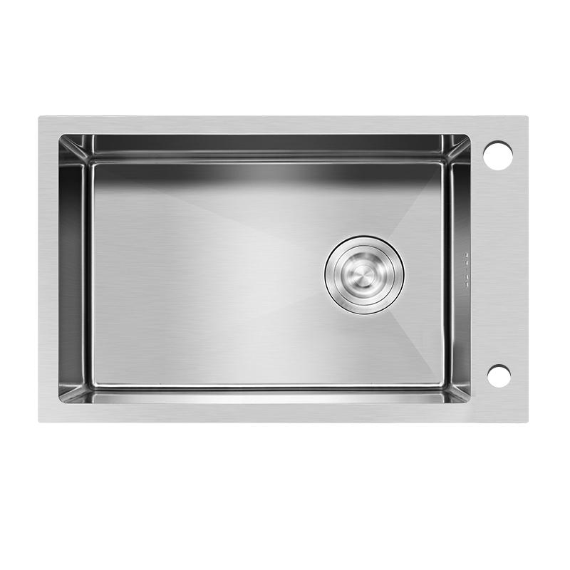 厨房洗菜盆不锈钢水池洗碗池水盆台下盆 德国好太太横向水槽单槽