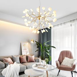 北欧吊灯后现代简约大气创意个性网红萤火虫温馨客厅餐厅卧室灯具