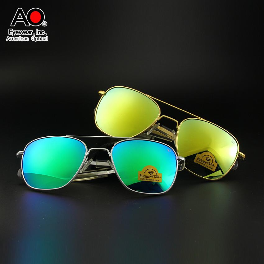 美国高档AO钢化玻璃防摔彩色太阳镜兰道夫