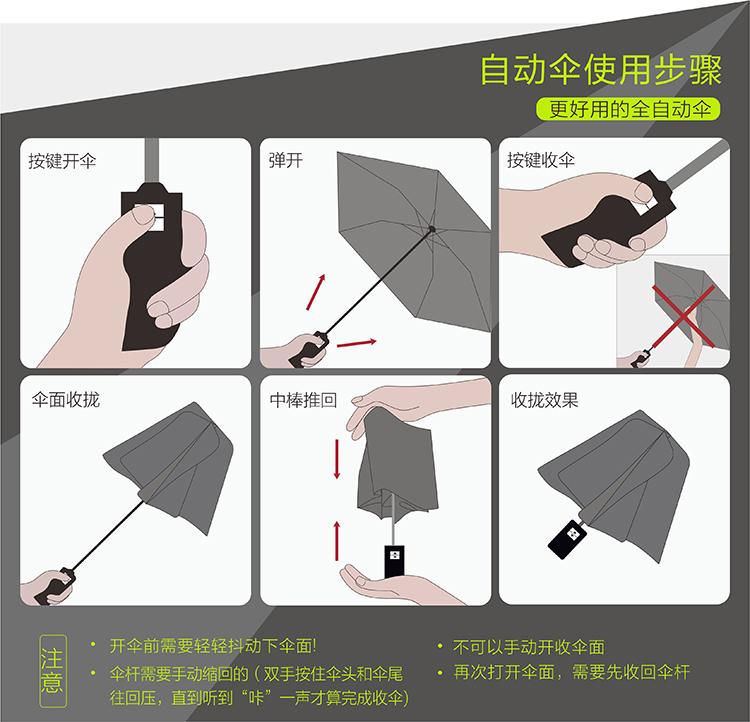 一键开关透明全自动雨伞折叠女晴雨小清新韩国女神学生双人情侣伞