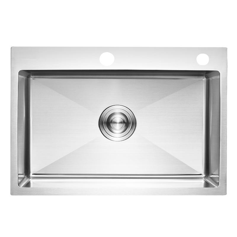 不锈钢水槽单槽厨房洗菜盆水池台下盆 304 加厚手工水槽套餐 4MM 德国