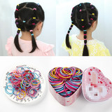 Children with hair rubber band baby foundation bottom small hair ring girl does not hurt hair tie rope little girl hair rope