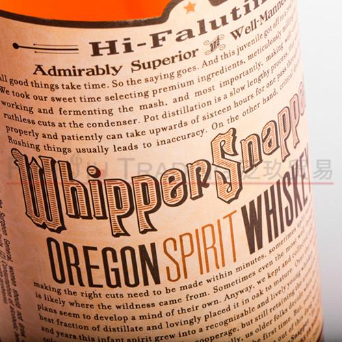 Whiskey 放肆俄勒冈州烈酒威士忌 洋酒美国进口 Snapper Whipper
