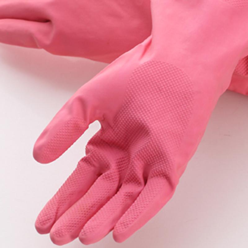 冬季厨房洗碗手套橡胶加绒加厚清洁家务塑胶洗衣服胶皮耐用防水