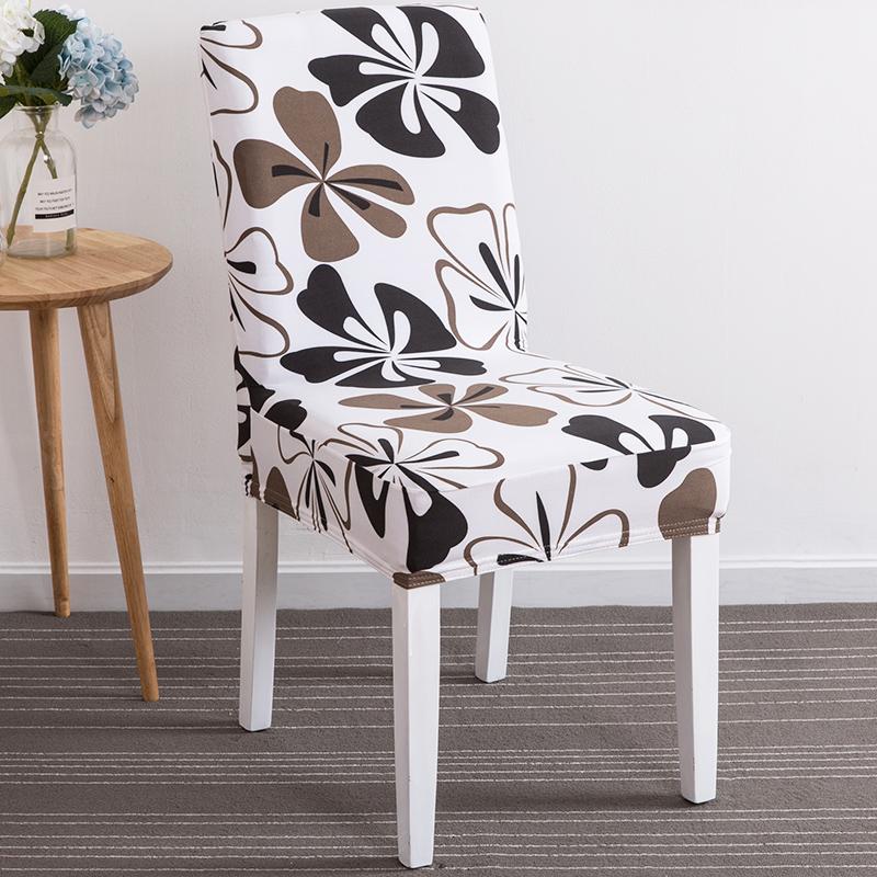 餐厅连体座椅套简约家用弹力酒店椅子套通用餐桌凳子套罩欧式布艺