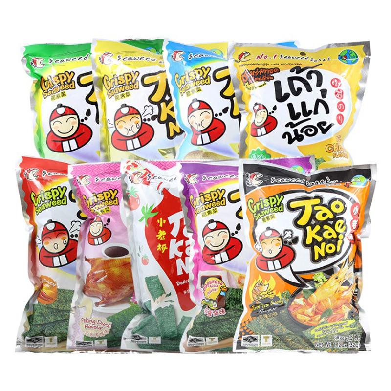 袋 1 休闲零食 即食紫菜炸海苔片 32g 老板仔海苔 泰国进口