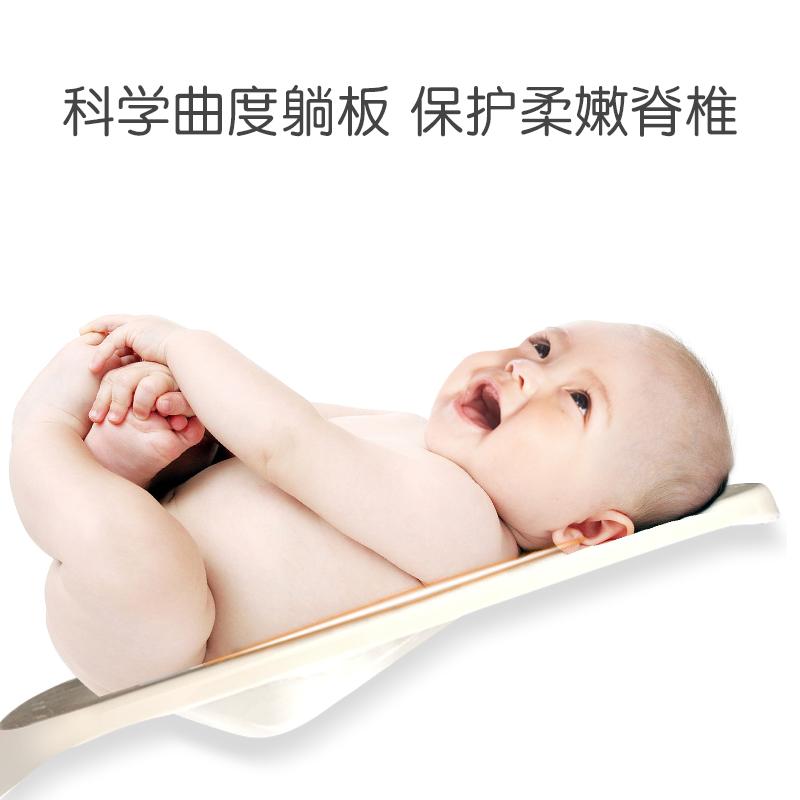 日康婴儿洗澡盆新生儿可坐躺通用宝宝浴盆小孩儿童大号加厚沐浴盆高清大图