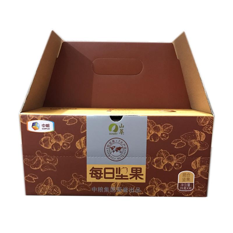 750g 包年货大礼包孕妇干果仁零食礼盒 30 中粮山萃每日坚果混合坚果