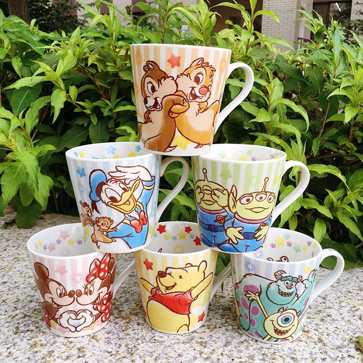 出口單 三眼仔 松鼠 小熊維尼毛怪 陶瓷水杯馬克杯咖啡杯禮盒裝