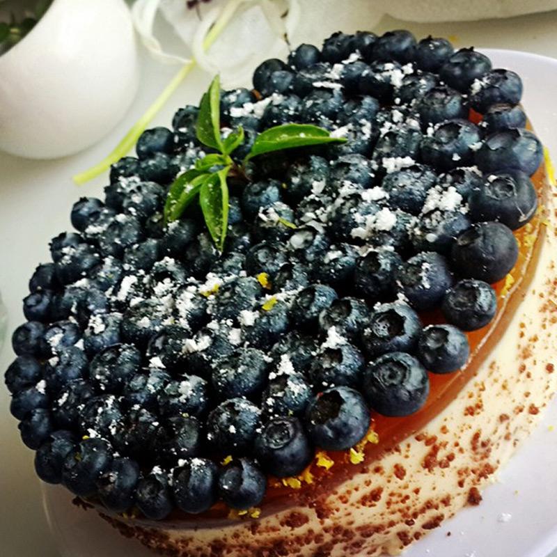 金百瑞蓝莓盒装速冻果1200g 新鲜水果办公室零食新鲜冷冻蓝莓冻果