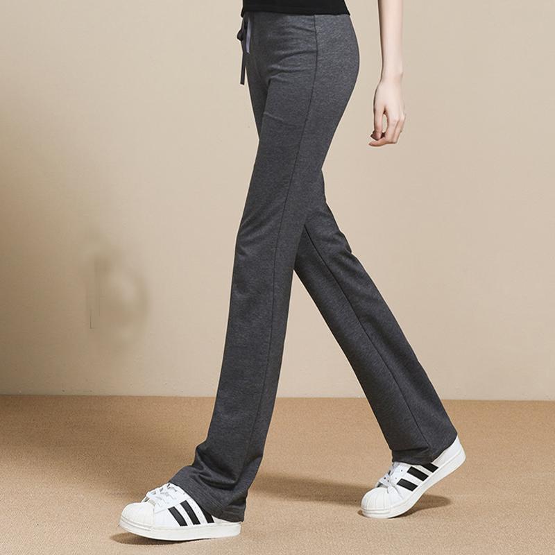 运动裤女春秋长裤女士大码显瘦修身休闲裤夏季薄款跑步微喇卫裤