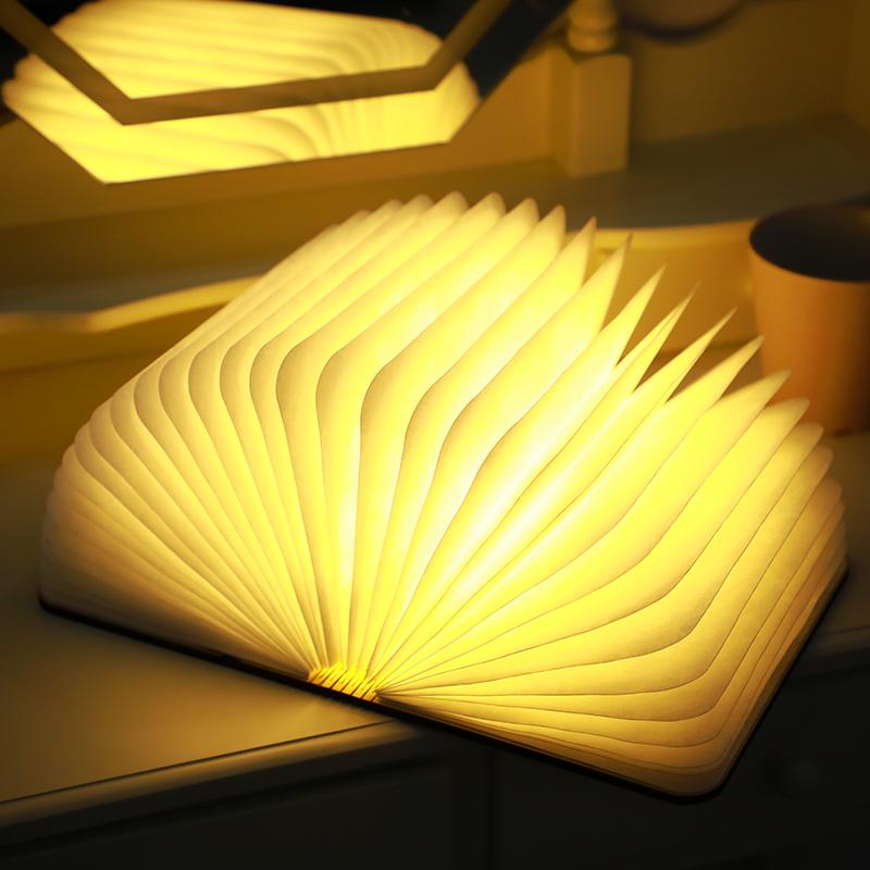 LED书灯创意折叠书本灯usb充电小夜灯定制圣诞节生日礼物宿舍台灯-给呗网