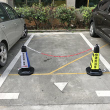 Rubber Road Cone 70CM Reflective Cone Isolation Pier Do Not Parking Barricade Cone Ice Cream Barrel No Parking Pile Warning Column