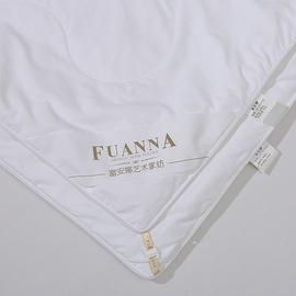 富安娜蚕丝被子母二合一桑蚕丝被芯冬被全棉负离子空调被四季可用