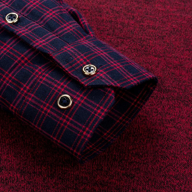 冬季男士毛衣加绒加厚假两件针织衫衬衫领套头背心假二件带绒衬衣