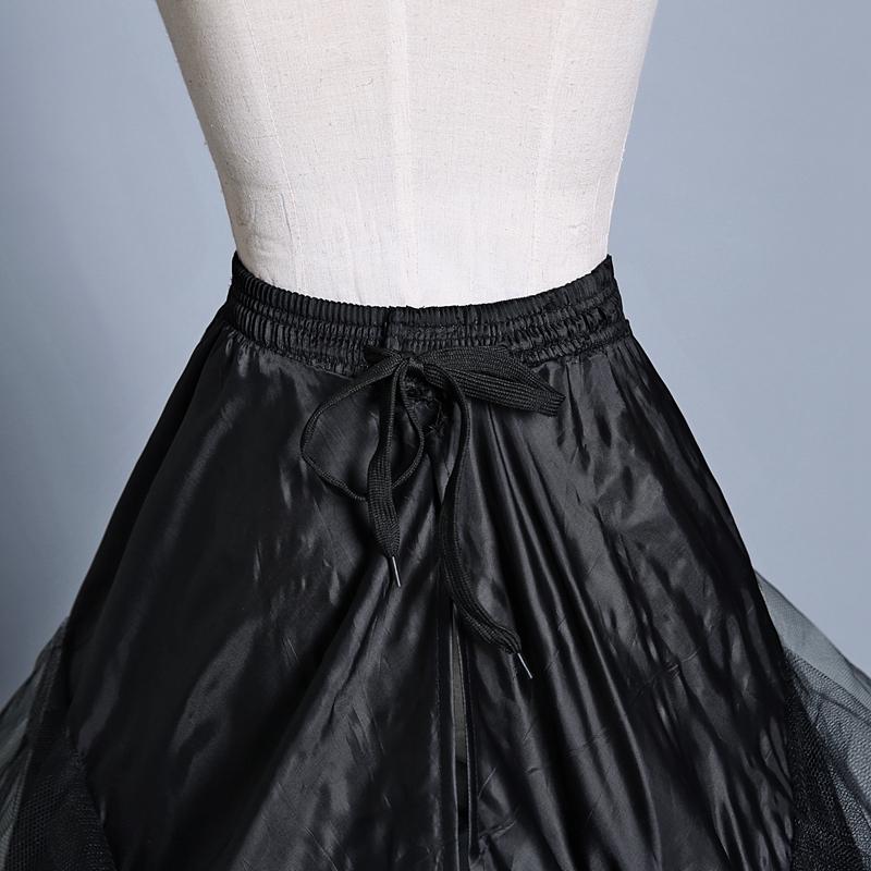 黑色裙撑两钢大拖尾婚纱礼服专用蓬裙撑衬裙加硬纱质有骨松紧系带