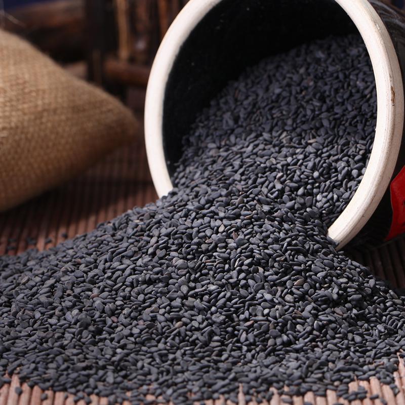 生黑芝麻 纯新货天然生芝麻 农家自产黑芝麻仁500g