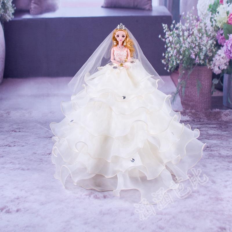 婚纱巴比娃娃生日礼物公主玩具芭新娘抖音梦幻类摆件超大裙罗丽叶