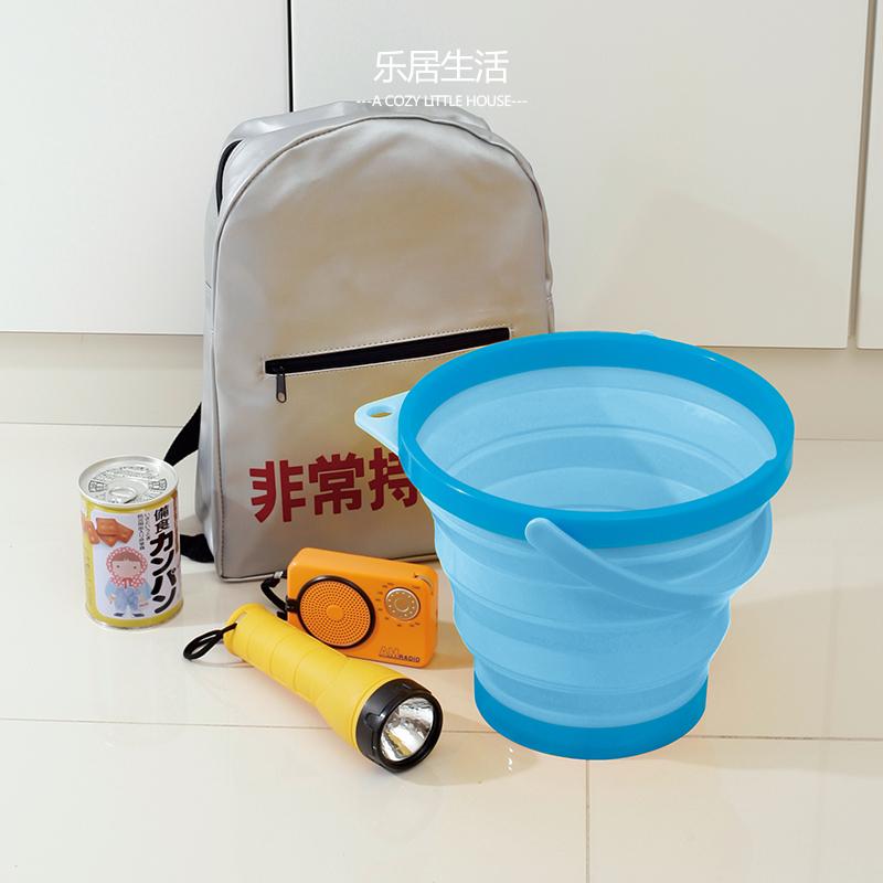 日本进口ISETO折叠盆大容量硅胶水盆洗衣盆泡脚盆便携出游提水桶