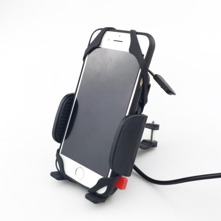摩托车手机支架可充电带开关USB充电器 防水防震 导航架 骑行装备