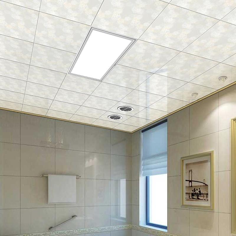 奥普嵌入式LED节能平板灯集成吊顶厨卫灯长方形正方形铝扣面板灯