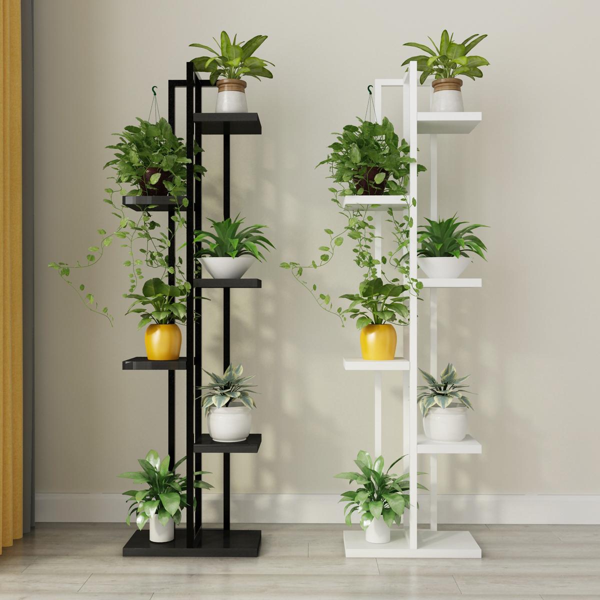 客厅花架铁艺多层室内多功能多肉绿萝吊兰花架子特价省空间落地式