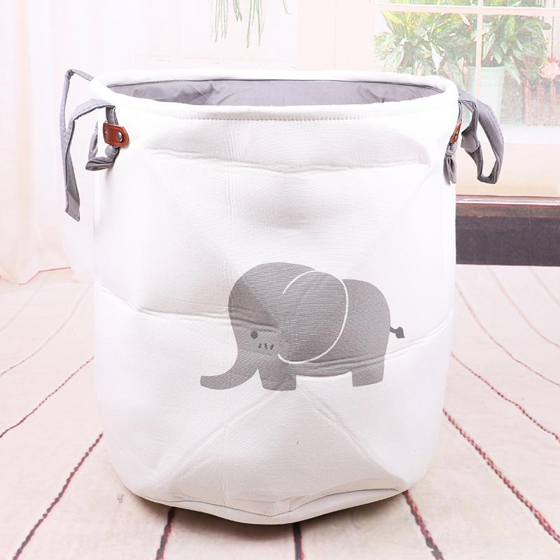 儿童玩具收纳桶布艺脏衣篮脏衣服收纳框脏衣篓杂物筐整理储物桶