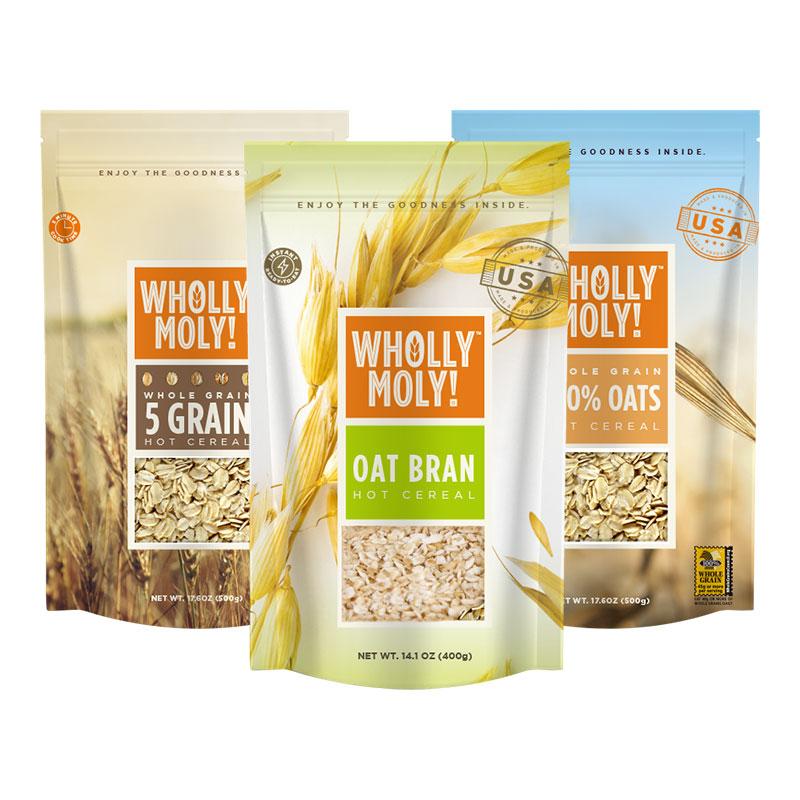 好哩燕麦麸皮 无糖精麦片即食 麦麸麸皮 冲饮谷物代早餐食品2袋装