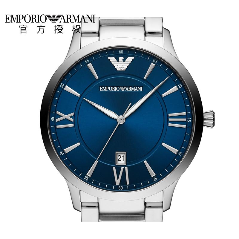 Armani阿玛尼手表男商务休闲时尚新品钢带石英男表AR11227