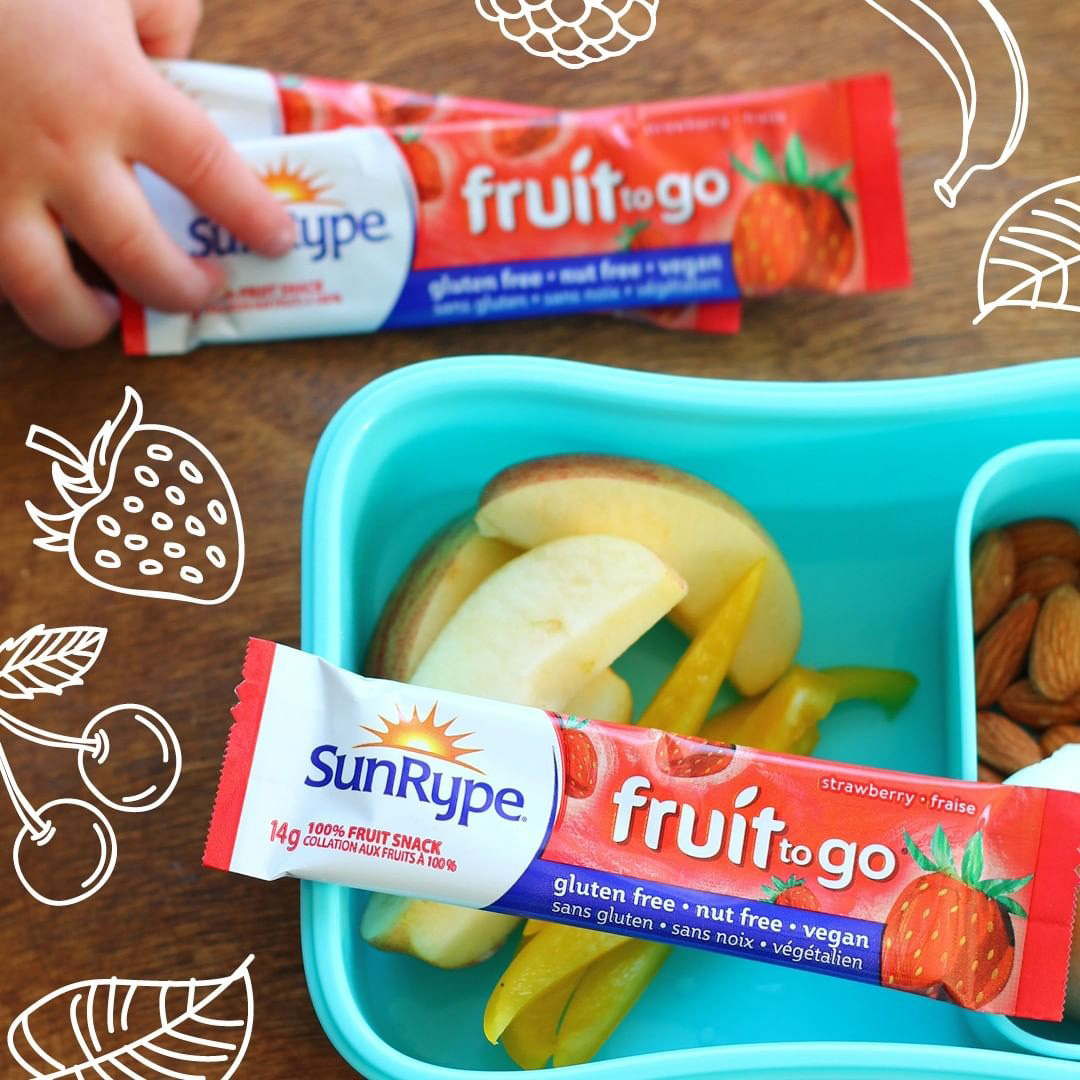 SunRype儿童宝宝零食加拿大水果条72条婴儿果丹皮无添加一岁以上