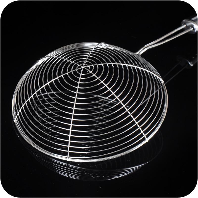 长柄不锈钢大号果汁豆浆过滤网漏勺捞面漏油勺捞粉丝饺子油炸网筛