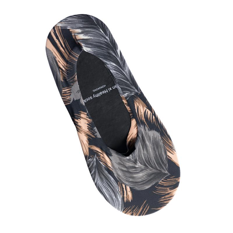 隐形袜男夏季超薄透气船袜浅口硅胶防滑冰丝袜莫代尔棉袜涂鸦