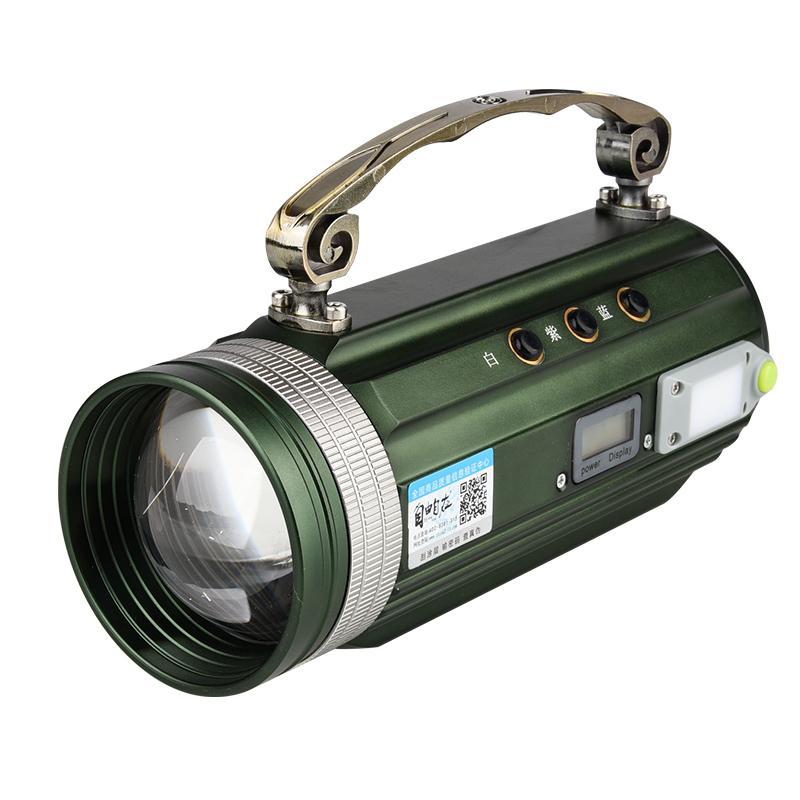 包邮自由自在夜钓灯钓鱼灯紫光蓝光灯黄光变焦调光探照灯充电驱蚊