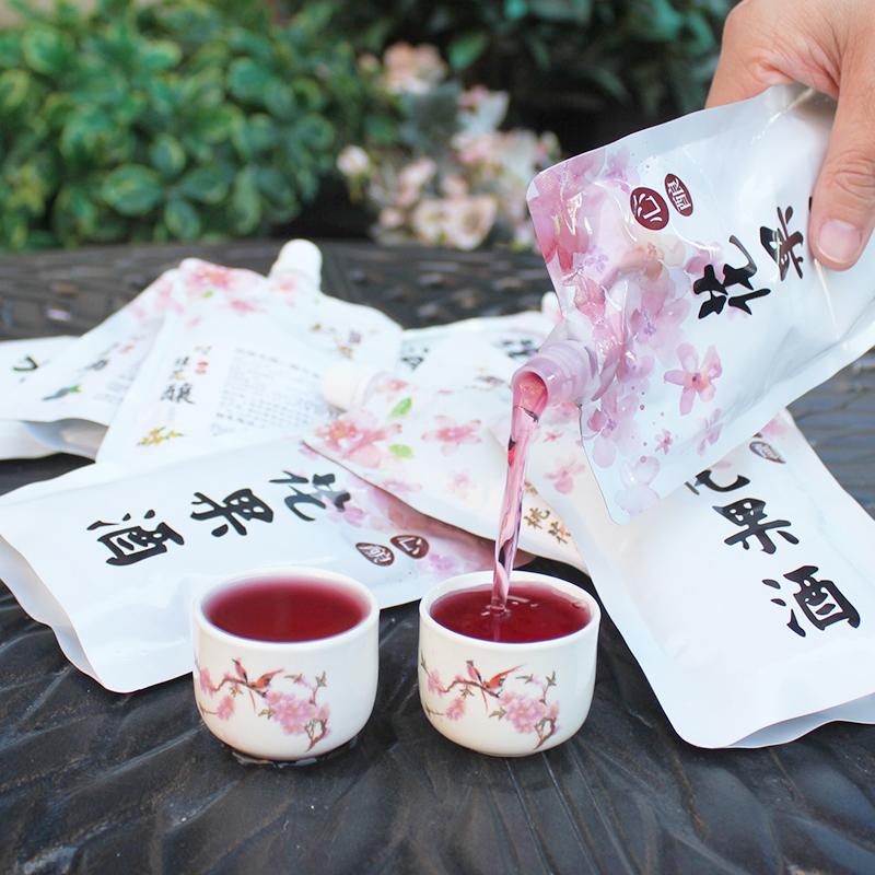 花果酒 150ml 吸吸袋 1 选 8 桃花酒桂花酒玫瑰酒青梅酒蓝莓酒桑葚果酒