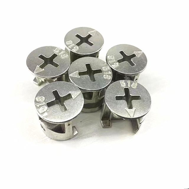Three-in-one connecting piece bed wardrobe drawer plate desk assembly hardware accessories screw nut eccentric wheel
