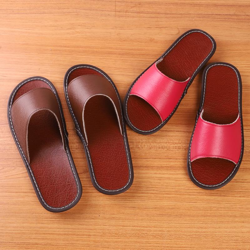 纯牛皮托鞋室内男女海宁真皮居家皮拖鞋夏季防滑牛筋底真皮凉拖鞋