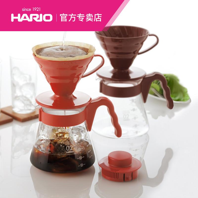 HARIO日本進口耐熱玻璃滴濾式手衝咖啡套裝V60濾杯咖啡滴濾器VCSD