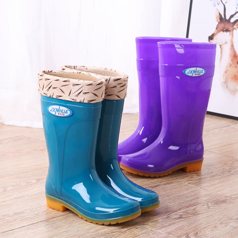 中筒雨鞋男短筒水鞋女胶鞋厨房防水防滑高筒雨靴男女工作鞋牛筋底