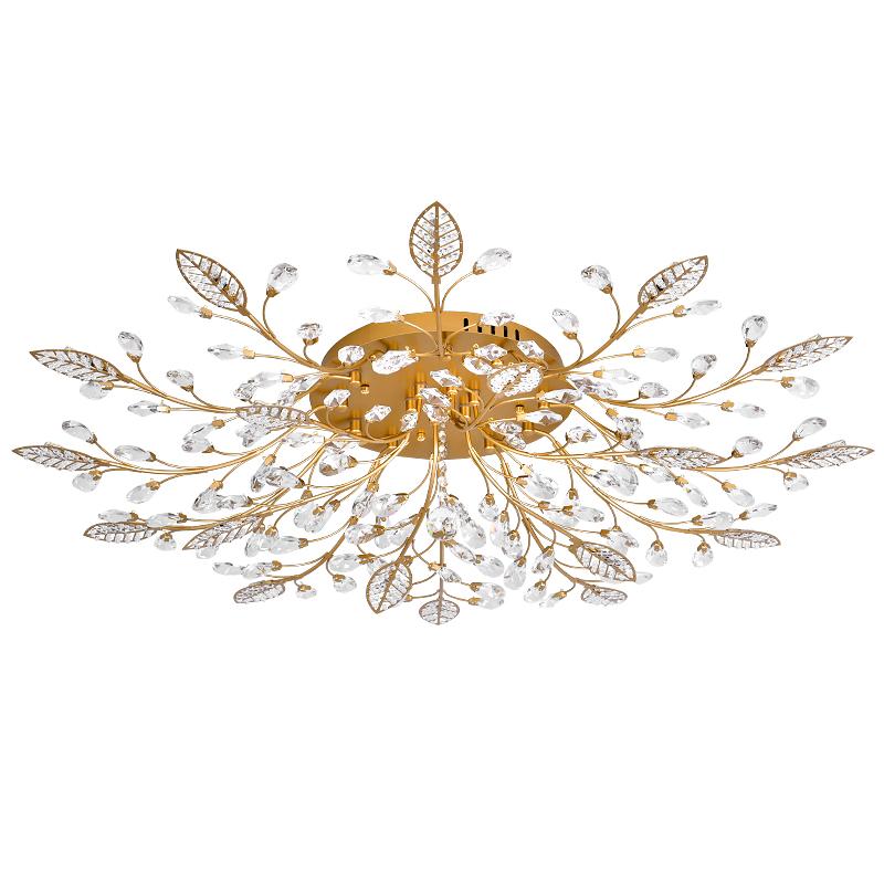 水晶灯欧式奢华卧室餐厅灯具 led 美式吸顶灯客厅灯简约现代大气