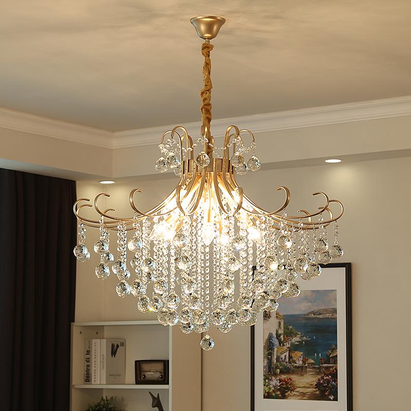 美式吊灯客厅卧室餐厅乡村田园美式简约过道入户大气奢华水晶吊灯
