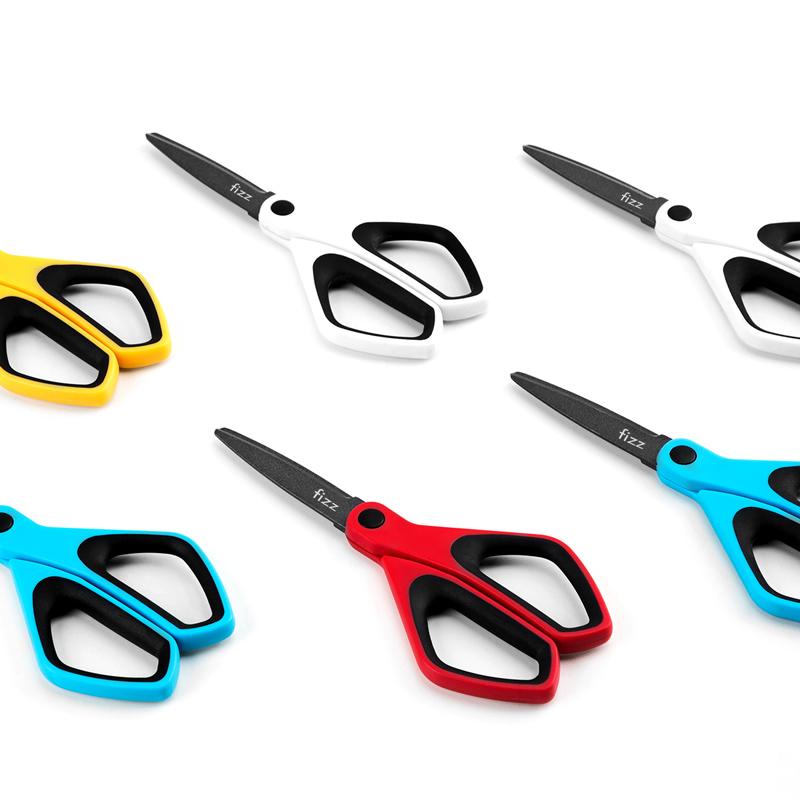 kinbor【fizz】多功能和纸胶带不粘胶涂氟防粘剪刀办公家居裁纸刀手工美工剪子省力弧线刀刃