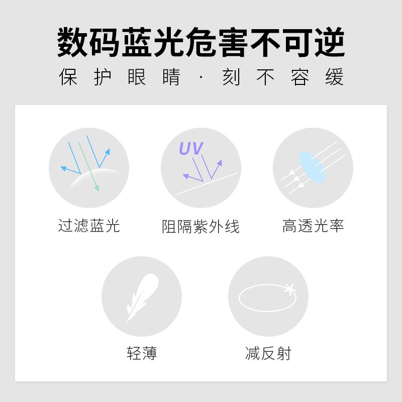定制产品不支持退换 1.67  木九十 折射率多屏蓝光防护镜片防蓝光