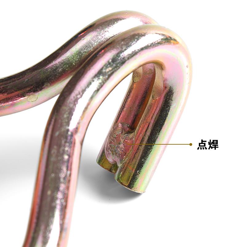 拉紧器钩子货物捆绑钩铁钩货车拖车钢管钩双排钩浸塑镀彩锌配件