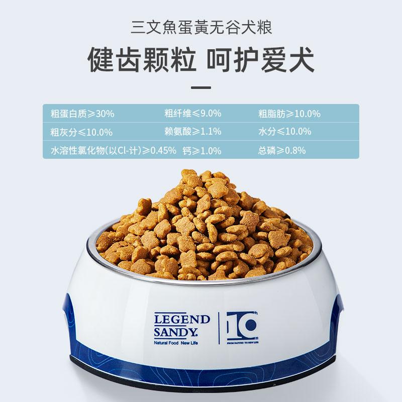 蓝氏狗粮官方三文鱼25磅蛋黄无谷犬粮22.6斤中大型成幼犬全犬通用优惠券