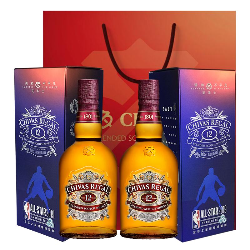 英国进口威士忌洋酒 限量礼盒装 NBA 瓶 2 500ml 年 12 芝华士 Chivas