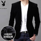 Autumn and winter men's casual suit plus velvet Korean small suit men corduroy business thickening slim suit jacket