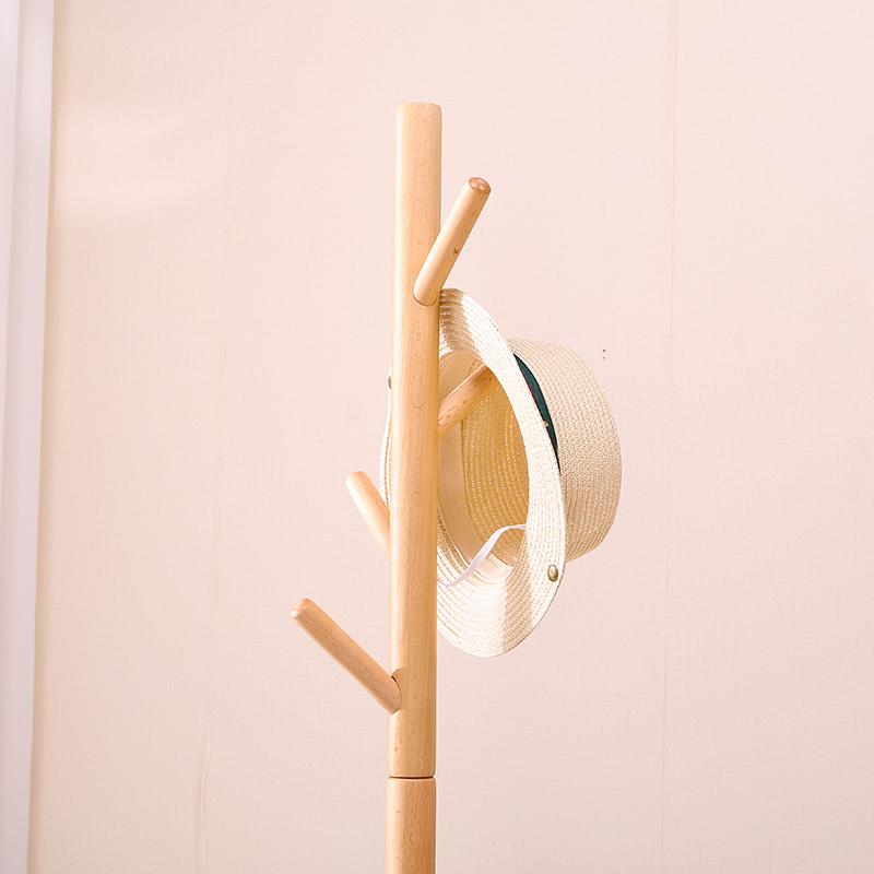 簡易衣架落地臥室實木衣帽架多功能掛衣架家用簡約經濟型衣服架子