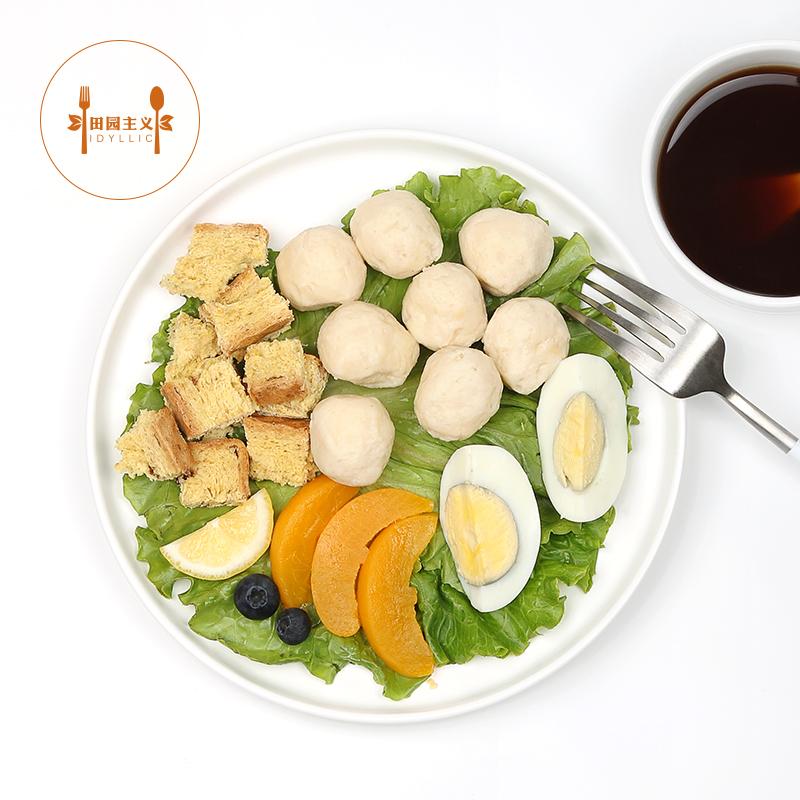 田园主义鸡胸肉丸健身即食高蛋白低脂低代餐卡速食鸡肉丸子300克