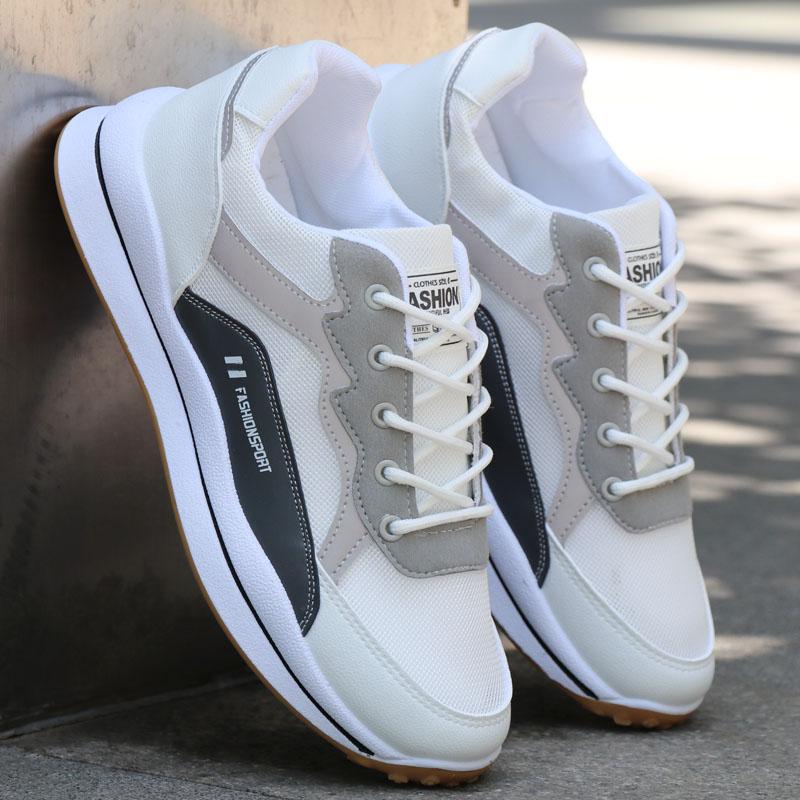 男鞋小白鞋夏季透气网面休闲鞋潮男白网站鞋运动鞋百搭防滑网眼鞋
